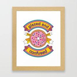 Glazed And Confused Donut Framed Art Print