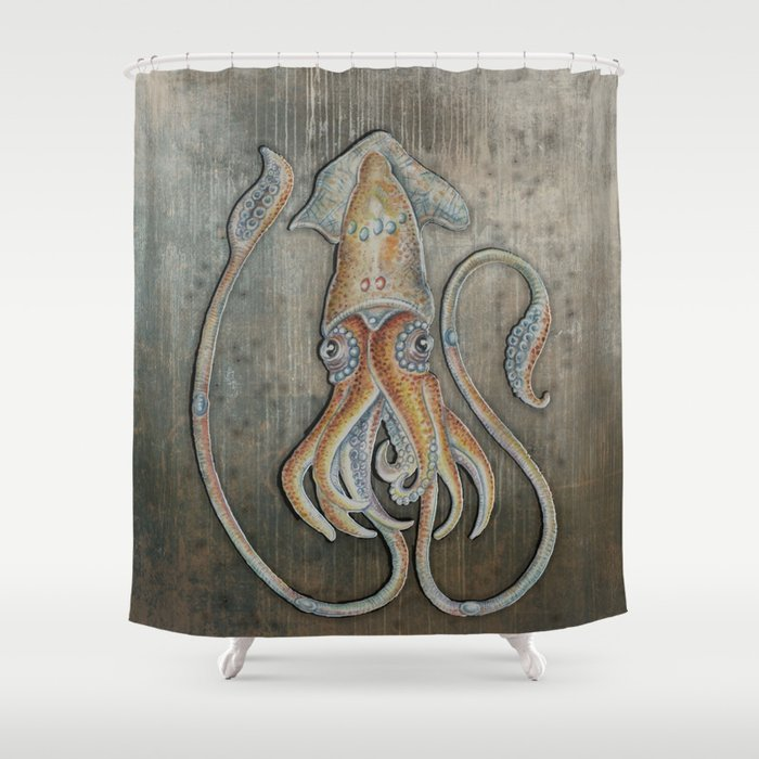 Lycoteuthis Diadema Shower Curtain