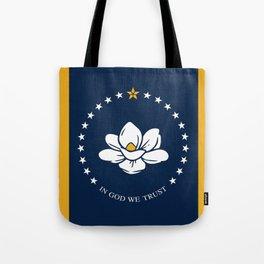 New flag of mississippi Tote Bag
