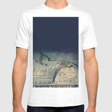 They Come MEDIUM White Mens Fitted Tee