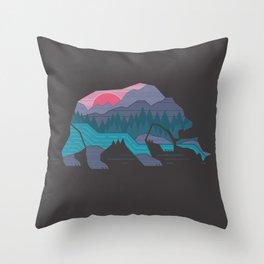 Bear Country Throw Pillow