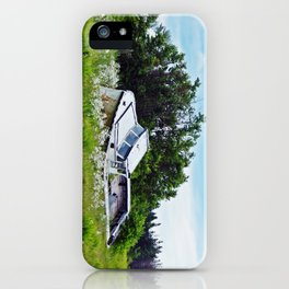 Boat in a Field iPhone Case