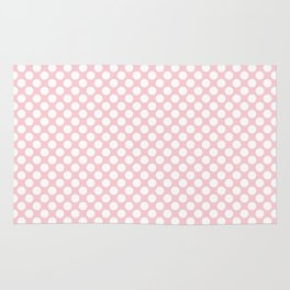Large White Spots On Millennial Pink Pastel Rug
