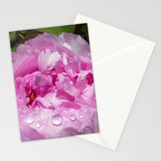 Pink Peony with Rain Drops Stationery Cards