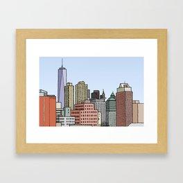 Downtown New York Skyline Framed Art Print