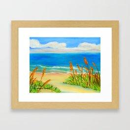 Sea Oat Path Framed Art Print