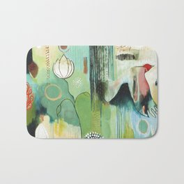 """""""Fly Home"""" Original Painting by Flora Bowley Bath Mat"""