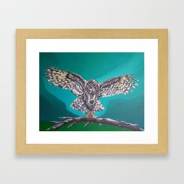 Owl and Mouse Framed Art Print