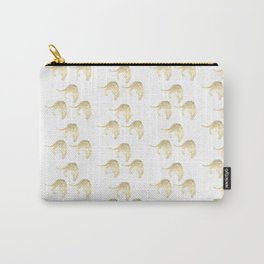 Gold Leopard Carry-All Pouch