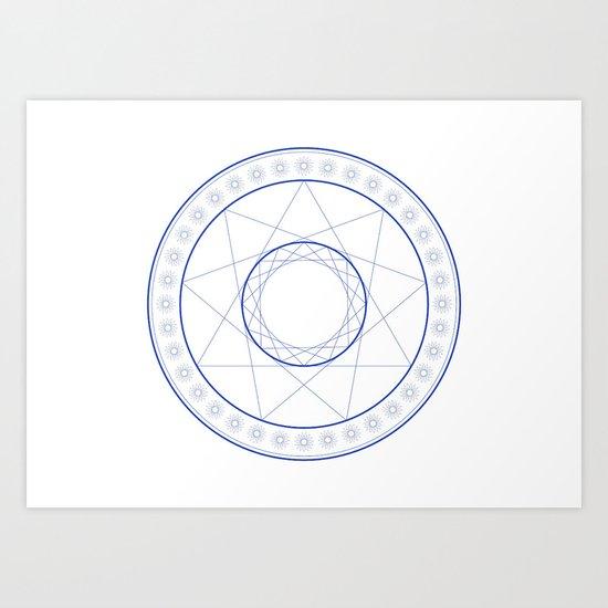 Anime Magic Circle 9 Art Print