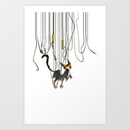 """Lili B. """"Entangled cat"""" Art Print"""