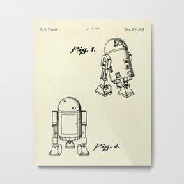Robot R2D2-1979 Metal Print