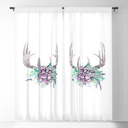Bohemian Deer Antlers #3 Blackout Curtain