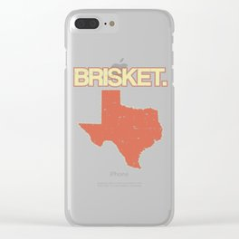 Brisket Texas BBQ Barbecue Rubs State Pride Gift Clear iPhone Case