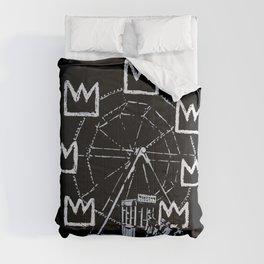 Banksy - Ferris Wheel - Tribute To JMBasquiat Artwork Comforters