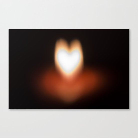 Camera blur flame heart Canvas Print