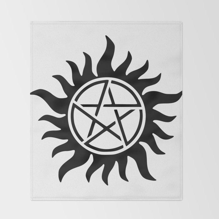 Anti-Possession Symbol Throw Blanket