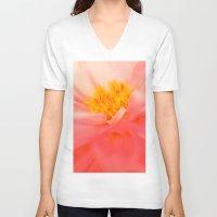 dahlia V-neck T-shirts featuring Dahlia by chantal & james photography