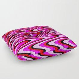 Monochromatic red slur Floor Pillow