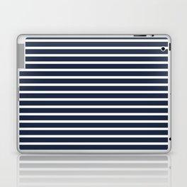 Nautical Navy and White Horizontal Stripes Laptop & iPad Skin