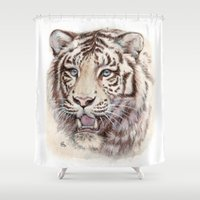 White Tiger 909 Shower Curtain