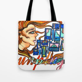 """""""Unplug from the Cyborg Life"""" Tote Bag"""