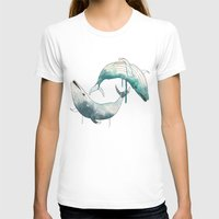 whales T-shirts featuring whales by Chebhead