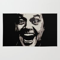 jack nicholson Area & Throw Rugs featuring jack nicholson by zarna