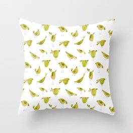 Happy birds Throw Pillow