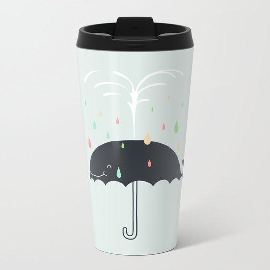 Happy Rainy Day Metal Travel Mug