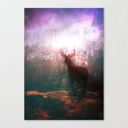 The City of Red Deer by GEN Z Canvas Print