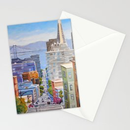 View of San Francisco Stationery Cards