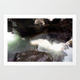 Box Canyon Falls - Rainbow on the Mist Art Print