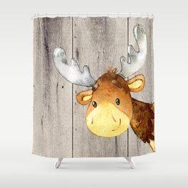 Woodland Friends - Little Deer In Forest Shower Curtain
