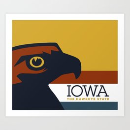 Iowa - Redesigning The States Series Art Print