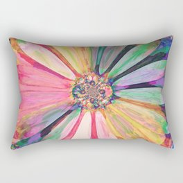Abstract Colorful Daisy 3 Rectangular Pillow