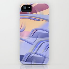 Pattern colors 2016 rose quarz and serenity blue Version 3 iPhone Case