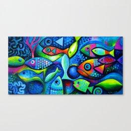 Hello fishies Canvas Print