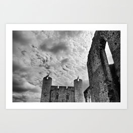 Caerphilly Castle Wales 4 Art Print