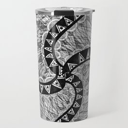 "Hand Drawn ""Systematic yet Chaotic"" Zentangle Travel Mug"