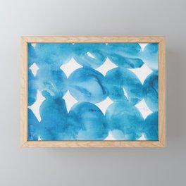 12   |  190408 Blue Abstract Watercolour Framed Mini Art Print