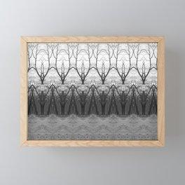 Loom: Black and White, November Trees Framed Mini Art Print