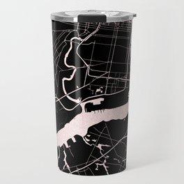 Philadelphia - Black and Rose Gold Travel Mug