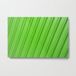Stripes II - Green Metal Print