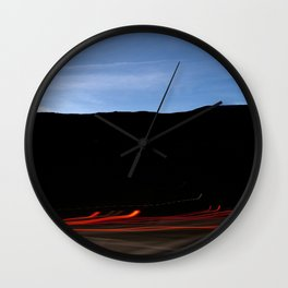Lights And Mountain Wall Clock