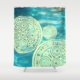 swimmingly three Shower Curtain