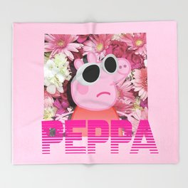 PEPPA's FIRE mixtape Throw Blanket