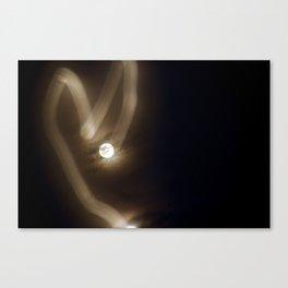 Heart Moon - Long Exposure Canvas Print