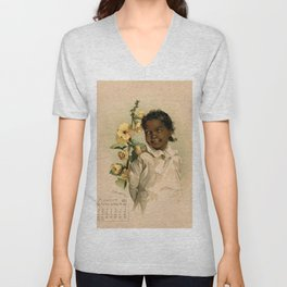 African Girl Maud Humphrey Unisex V-Neck