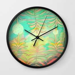 Floral Pollination Wall Clock